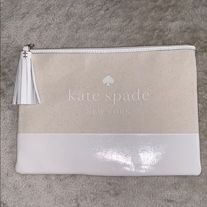 Large tassel pouch, natural color Kate Spade